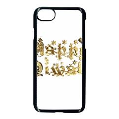 Happy Diwali Gold Golden Stars Star Festival Of Lights Deepavali Typography Apple Iphone 8 Seamless Case (black) by yoursparklingshop