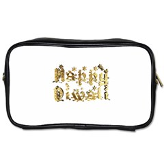 Happy Diwali Gold Golden Stars Star Festival Of Lights Deepavali Typography Toiletries Bags by yoursparklingshop
