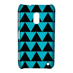 Triangle2 Black Marble & Turquoise Colored Pencil Nokia Lumia 620 by trendistuff