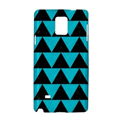 Triangle2 Black Marble & Turquoise Colored Pencil Samsung Galaxy Note 4 Hardshell Case by trendistuff