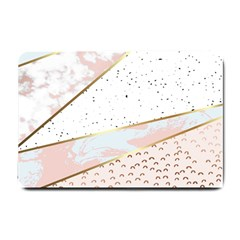 Collage,white Marble,gold,silver,black,white,hand Drawn, Modern,trendy,contemporary,pattern Small Doormat  by 8fugoso