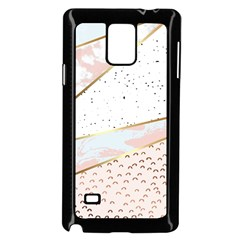 Collage,white Marble,gold,silver,black,white,hand Drawn, Modern,trendy,contemporary,pattern Samsung Galaxy Note 4 Case (black) by 8fugoso