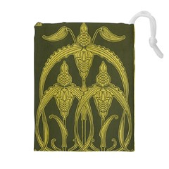 Art Nouveau Green Drawstring Pouches (extra Large) by 8fugoso