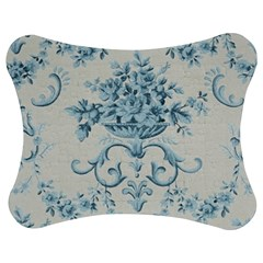 Blue Vintage Floral  Jigsaw Puzzle Photo Stand (bow) by 8fugoso
