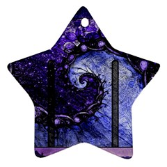 Beautiful Violet Spiral For Nocturne Of Scorpio Ornament (star) by beautifulfractals