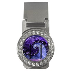 Beautiful Violet Spiral For Nocturne Of Scorpio Money Clips (cz)  by beautifulfractals