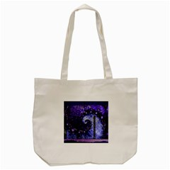 Beautiful Violet Spiral For Nocturne Of Scorpio Tote Bag (cream) by beautifulfractals