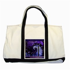 Beautiful Violet Spiral For Nocturne Of Scorpio Two Tone Tote Bag by beautifulfractals