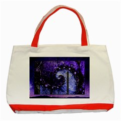 Beautiful Violet Spiral For Nocturne Of Scorpio Classic Tote Bag (red) by beautifulfractals