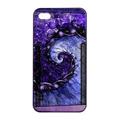 Beautiful Violet Spiral For Nocturne Of Scorpio Apple Iphone 4/4s Seamless Case (black) by beautifulfractals