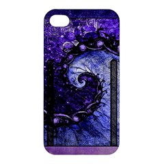 Beautiful Violet Spiral For Nocturne Of Scorpio Apple Iphone 4/4s Premium Hardshell Case by beautifulfractals