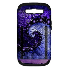 Beautiful Violet Spiral For Nocturne Of Scorpio Samsung Galaxy S Iii Hardshell Case (pc+silicone) by jayaprime