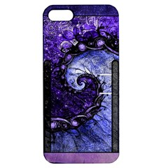 Beautiful Violet Spiral For Nocturne Of Scorpio Apple Iphone 5 Hardshell Case With Stand by beautifulfractals