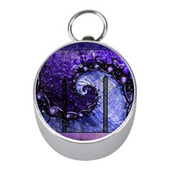 Beautiful Violet Spiral For Nocturne Of Scorpio Mini Silver Compasses by jayaprime