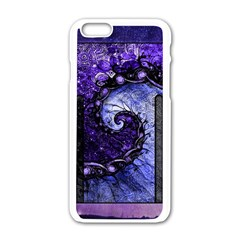 Beautiful Violet Spiral For Nocturne Of Scorpio Apple Iphone 6/6s White Enamel Case by beautifulfractals