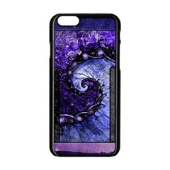 Beautiful Violet Spiral For Nocturne Of Scorpio Apple Iphone 6/6s Black Enamel Case by beautifulfractals