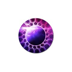 Beautiful Violet Nasa Deep Dream Fractal Mandala Golf Ball Marker by beautifulfractals