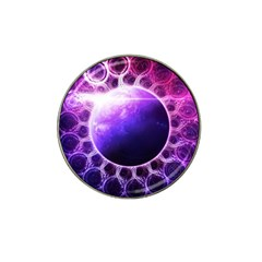 Beautiful Violet Nasa Deep Dream Fractal Mandala Hat Clip Ball Marker by jayaprime