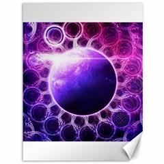 Beautiful Violet Nasa Deep Dream Fractal Mandala Canvas 36  X 48   by jayaprime
