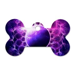 Beautiful Violet Nasa Deep Dream Fractal Mandala Dog Tag Bone (one Side) by beautifulfractals
