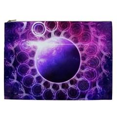 Beautiful Violet Nasa Deep Dream Fractal Mandala Cosmetic Bag (xxl)  by beautifulfractals