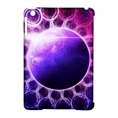 Beautiful Violet Nasa Deep Dream Fractal Mandala Apple Ipad Mini Hardshell Case (compatible With Smart Cover) by beautifulfractals