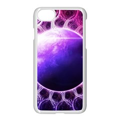 Beautiful Violet Nasa Deep Dream Fractal Mandala Apple Iphone 7 Seamless Case (white) by jayaprime