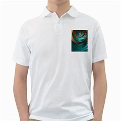 Beautiful Leather & Blue Turquoise Fractal Jewelry Golf Shirts
