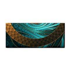 Beautiful Leather & Blue Turquoise Fractal Jewelry Cosmetic Storage Cases by jayaprime