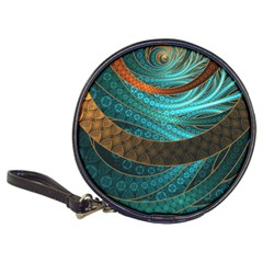 Beautiful Leather & Blue Turquoise Fractal Jewelry Classic 20 Cd Wallets by beautifulfractals