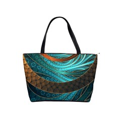Beautiful Leather & Blue Turquoise Fractal Jewelry Shoulder Handbags by beautifulfractals