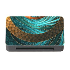 Beautiful Leather & Blue Turquoise Fractal Jewelry Memory Card Reader With Cf by beautifulfractals