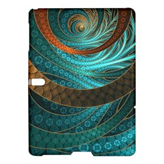 Beautiful Leather & Blue Turquoise Fractal Jewelry Samsung Galaxy Tab S (10 5 ) Hardshell Case  by beautifulfractals