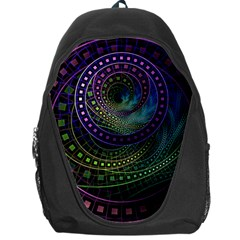 Oz The Great With Technicolor Fractal Rainbow Backpack Bag by beautifulfractals