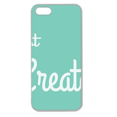 Bloem Logomakr 9f5bze Apple Seamless Iphone 5 Case (clear) by createinc
