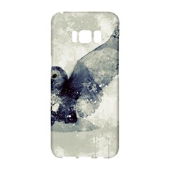 Cute Owl In Watercolor Samsung Galaxy S8 Hardshell Case  by FantasyWorld7
