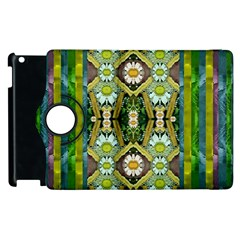 Bread Sticks And Fantasy Flowers In A Rainbow Apple Ipad 2 Flip 360 Case by pepitasart
