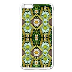 Bread Sticks And Fantasy Flowers In A Rainbow Apple Iphone 6 Plus/6s Plus Enamel White Case by pepitasart