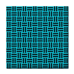 Woven1 Black Marble & Turquoise Colored Pencil Face Towel by trendistuff