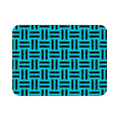 Woven1 Black Marble & Turquoise Colored Pencil Double Sided Flano Blanket (mini)  by trendistuff