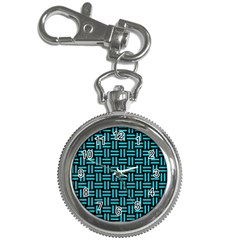 Woven1 Black Marble & Turquoise Colored Pencil (r) Key Chain Watches by trendistuff