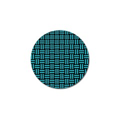 Woven1 Black Marble & Turquoise Colored Pencil (r) Golf Ball Marker by trendistuff