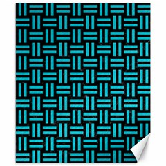 Woven1 Black Marble & Turquoise Colored Pencil (r) Canvas 8  X 10  by trendistuff