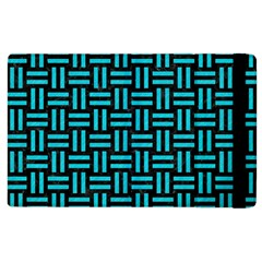 Woven1 Black Marble & Turquoise Colored Pencil (r) Apple Ipad 2 Flip Case by trendistuff