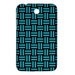 Woven1 Black Marble & Turquoise Colored Pencil (r) Samsung Galaxy Tab 3 (7 ) P3200 Hardshell Case  by trendistuff
