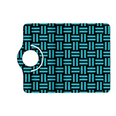 Woven1 Black Marble & Turquoise Colored Pencil (r) Kindle Fire Hd (2013) Flip 360 Case by trendistuff