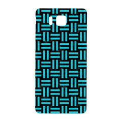 Woven1 Black Marble & Turquoise Colored Pencil (r) Samsung Galaxy Alpha Hardshell Back Case by trendistuff