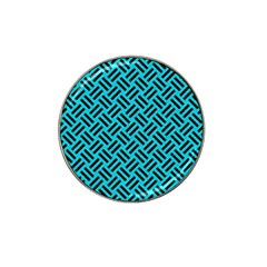 Woven2 Black Marble & Turquoise Colored Pencil Hat Clip Ball Marker by trendistuff
