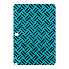 Woven2 Black Marble & Turquoise Colored Pencil Samsung Galaxy Tab Pro 12 2 Hardshell Case by trendistuff