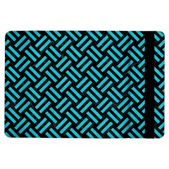 Woven2 Black Marble & Turquoise Colored Pencil (r) Ipad Air Flip by trendistuff